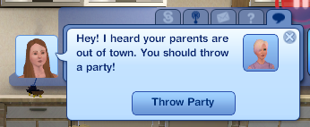 i clicked throw party